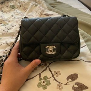 Chanel mini square caviar leather